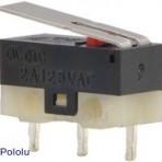 Mini Switch com Alavanca de 13.5mm, 3 pinos, SPDT, 2A