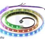 Fita de 60-LED RGB endereçável, 5V, 1m (WS2812B)